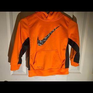 Nike Therma Fit Boy's Orange Hoodie Sweatshirt